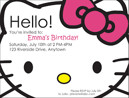 hello kitty photo birthday invitations eysachsephoto com