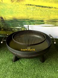 fire pit topper the space brazier u0026 swing arm grill fire pit beautifully hand crafted