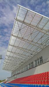 Polycarbonate Porch football stadium polycarbonate roof by rodeca gmbh polycarbonate