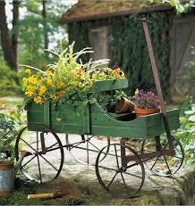 front yard backyard amish wagon decorative outdoor garden decor
