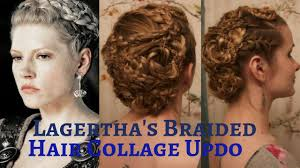 how to do viking hair vikings lagertha s braided hair collage updo youtube