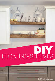 pbjstories our diy open kitchen shelves pbjreno