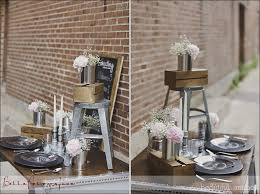 industrial wedding reception decor could recreate this with
