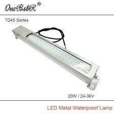 explosion proof led work light hntd td45 24v 36v 20w led metal panel light cnc machine tool