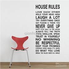 Home Decor Decals House Rules Art Words Motto Poem Vinyl Wall Sticker Decor Mural