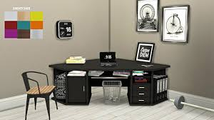 Sims 4 Furniture Sets Leo Sims Corner Desk Furnitures Study Sims4 Pinterest Sims