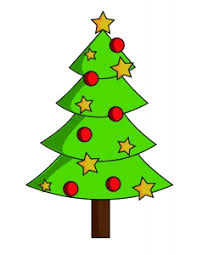 christmas tree sketch with red balls and stars photo free download