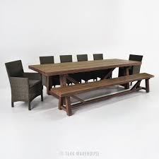 Best  Dining Set With Bench Ideas On Pinterest Wood Tables - Reclaimed teak dining table and chairs