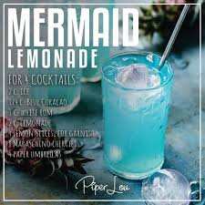french 75 recipe card mermaid lemonade drink recipe u2013 piper lou collection