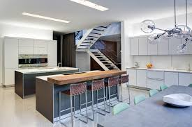 calgary industrial kitchen island with sink in center contemporary