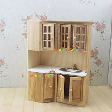 dollhouse kitchen furniture doll house kitchen furniture wooden toys cabinet range sink