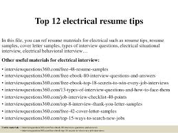 Sample Electrical Resume by Top 12 Electrical Resume Tips 1 638 Jpg Cb U003d1427731863