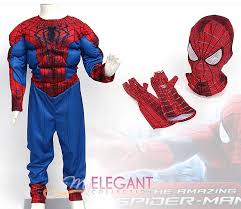 Boys Spider Halloween Costume Disney Marvel Spider Man 2 Muscle Deluxe Boys Kids Halloween
