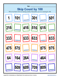 skip counting by 100 worksheets 2nd grade math activities