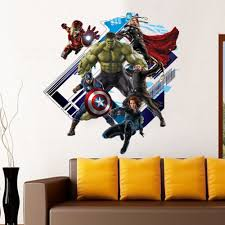 avengers removable wall sticker stick em up
