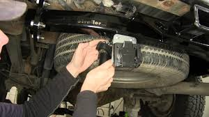 installation of a trailer wiring harness on a 2005 chevrolet