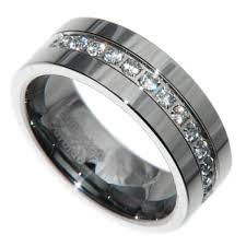men s ring size 8mm tungsten carbide 1 carat 13 stones bridal men wedding band