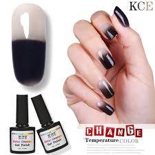 2017 new uv nail polish temperature changing color nail gel