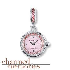 kay jewelers charmed memories kay charmed memories timebeads charm pink dial