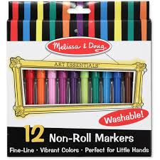 doug melissa u0026 doug 12 non roll felt tip pens