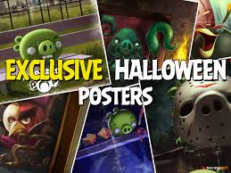 exclusive halloween posters unlocked in angry birds pop they make