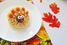 rice table for kids rice krispie turkey treats for thanksgiving