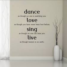 Living Room Quotes by Aliexpress Com Buy Art Wall Stickers Dance Love Sing Live Diy