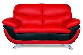 Leather Loveseats Jonus Sofa And Loveseat Set Black Red Leather Sofas Loveseats