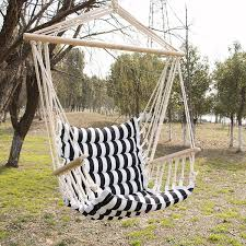 hammock hanging chair outdoor porch swing yard tree cotton