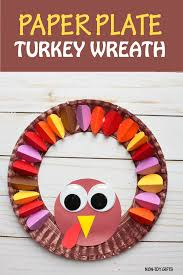paper plate turkey wreath craft for non gifts