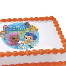 bubble guppies edible image cake decoration
