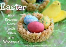 kitchen simmer easter rice krispies bird u0027s nest with whopper