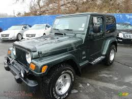 jeep sahara green 2003 jeep wrangler sahara 4x4 in shale green metallic 340566