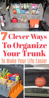 7 clever tips for how to organize your car trunk to make your life