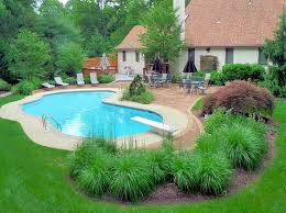 Backyard Pool Ideas Pictures Nice Idea For Inground Pool Landscaping The Best Inground Pool