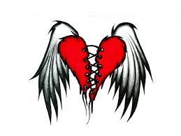 Hearts With Wings - the flying wings of broken tattoos tattoomagz