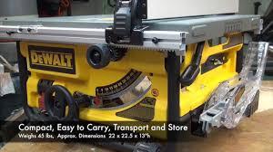 dewalt table saw guard dewalt dwe780 compact tablesaw youtube