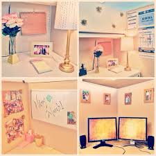 Decorating Ideas For Office At Work Pink And Gold Cubicle Decor Home Pinterest Cubicle Gold