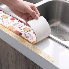 kitchen sink cabinet mats 2 8m kitchen shelf drawer mat proof wall stickers cabinet mat tile stickers bathroom shower sink bath sealing