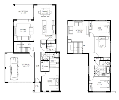 Floor Plan Of 4 Bedroom House Modren 2 Story House Floor Plans With Garage 3 Bedroom Bath French