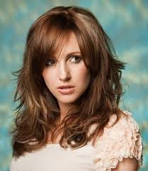 ladies hair styles with swept over fringe medium length wavy hairstyles with bangs 2017