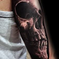 50 unique skull tattoos for manly ink design ideas