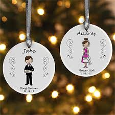 flower girl christmas ornament personalized wedding party christmas ornament 2 sided ornament