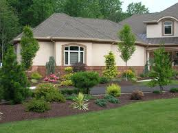 feng shui landscaping with small trees and shrubs front yard