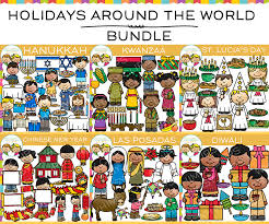 holidays around the world clip bundle images illustrations