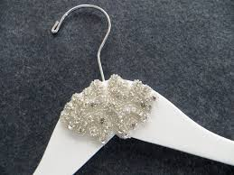 wedding dress hanger white rhinestone wedding dress hanger by lynnclaire