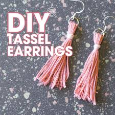 easy earrings how to make easy diy tassel earrings