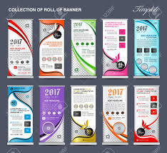 layout banner design collection of roll up banner design stand template flyers design