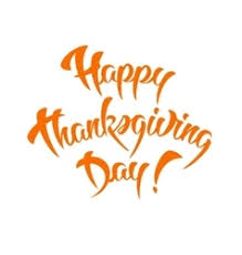 happy thanksgiving day calligraphic text vector image