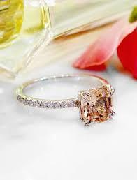 morganite engagement ring white gold caroll morganite engagement ring with band
